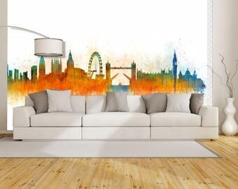 oil painting city wallpaper, Architecture painting decal, watercolor city wallpaper, city painting, city construction, London wallpaper