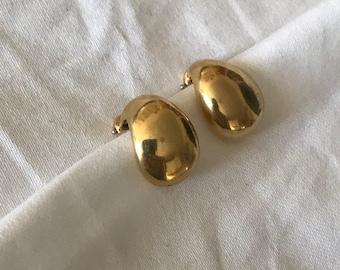 Tiffany & Co Vintage 18K Gold Clip On Earrings