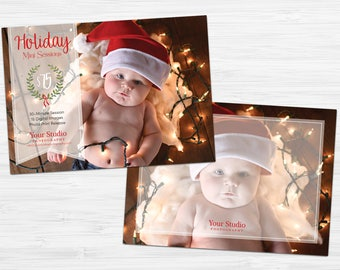 Holiday Mini Session Template - Christmas Mini Session - Photography Marketing - Photoshop Template [INSTANT DOWNLOAD]