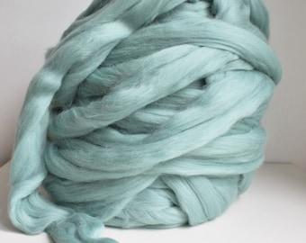 Teal Giant Yarn, Super Chunky Yarn, Super Bulky Yarn, Arm Knitting Yarn, Giant Knitting, Chunky Merino Yarn, DIY Arm Knit Blanket, Roving
