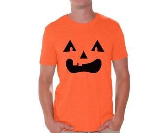 Funny Halloween Pumpkin T shirts for Men Halloween Shirts Jack O Lantern T Shirt Pumpkin Face Tshirt Mens Halloween Costume Halloween Party