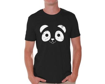 Panda Face Shirt Panda Bear T Shirt for Men Valentines Day Shirt Funny Valentine Gifts Cute Panda Valentine Shirt Valentine Gifts for Men