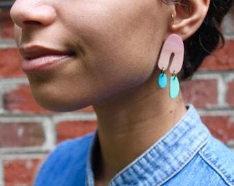 Wooden earrings/ Stud earrings