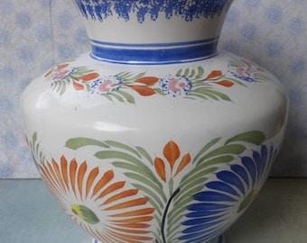 Vase, HENRIOT QUIMPER, Made in France, handmade