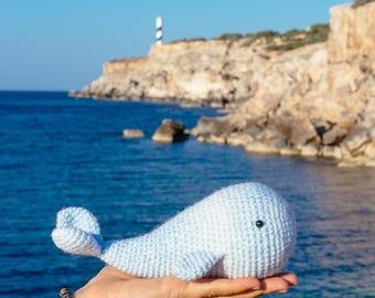 Crochet Whale, Plush Whale, Whale Toy