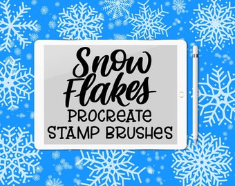 Custom Snowflake Brushes for Procreate App (now with 12 new shapes!)