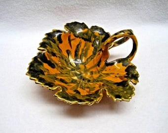 Leaf Candy/Trinket Dish - Ceramic Pottery