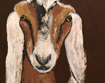 "Goat Painting 12""x12"""
