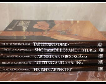 Time Life The Art Of Woodworking Books, Carpentry Books, Woodworking Books, Shop-Made Jigs and Fixtures, Tables and Desks, Routing & Shaping