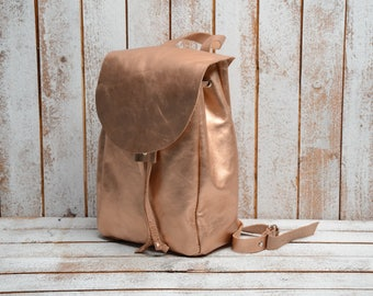 Leather Backpack.  Leather rucksack. Leather backpack handmade.Gifts for woman. Shoulder Bag, Travel Bag, Bag  backpack