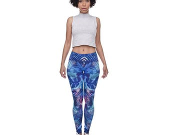 Midnight wild patterned leggings