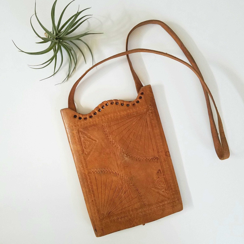 vintage leather embossed purse wall hanging. Black Bedroom Furniture Sets. Home Design Ideas