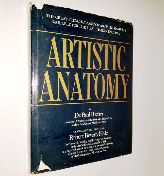 Artistic Anatomy by Dr. Paul Richer Watson-Guptill - Hardcover HC w/ Dust Jacket DJ - 1974 - Drawing Sketches Art Human Form