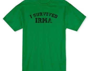 I Survived Irma Hurrican Florida Miami Men's Kelly Green T-shirt