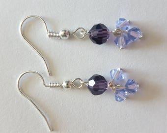 Plum Perfect Czech Crystal Earrings