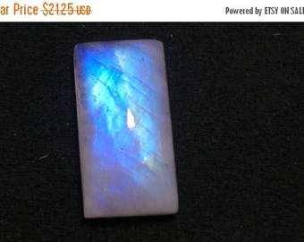 Rainbow Moonstone Octagon Cabochon, Blue Flash Rainbow Moonstone, High Quality Rainbow Gemstone, Size- 14x27x8 MM, Weight