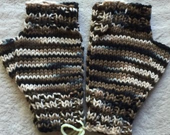 Camo Fingerless Mitts