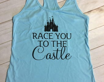 Race you to the Castle Disney tank tee t-shirt