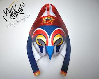 Horus mask PRINTABLE pattern. Egyptian mask. Egyptian party mask. Horus. Masquerade mask. Party mask Ancient Egypt mask. Egyptian Horus mask