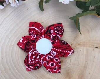Red paisley baby, toddler headband