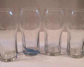 Vintage Coca Cola Ice Cream Soda Glasses (set of 4)