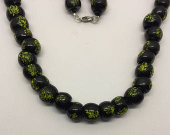 vintage african trade beads necklace #251