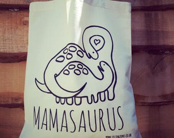 Mamasaurus fair-trade cotton tote shopping bag