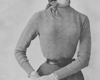 1952 Patterned Turtle Neck