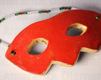 Màskes-Red Enamel mask