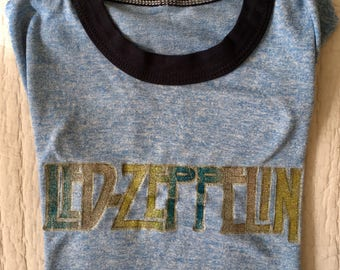 RARE Vintage Led Zeppelin Band Ringer Muscle T Shirt Tank Size Small ** Free Shipping **
