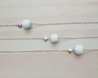 Minimalist Floating LAVA stone diffuser necklace, Diffuser Necklace, lava Necklace