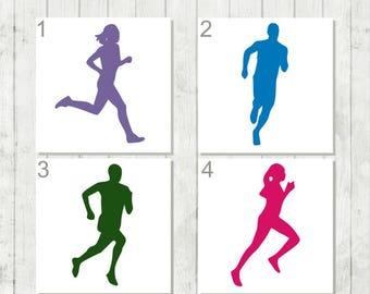 Running Decal, Female Runner Decal, Male Runner Decal, Gift for Runner, Fitness Decal, Fitness Lover Decal, Gift Under 10, Decal for Runner