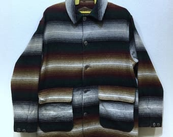 Vintage Woolrich Navajo chore jacket Medium size made in usa