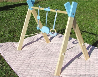 Natural Baby Wooden Play Gym, Sensory toy, play gym, wooden gym, baby toys, 0-6 months, baby shower gift