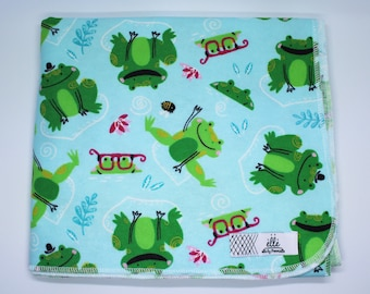 "Swimming Frog Extra Large Receiving Blanket - 36"" x 42"""