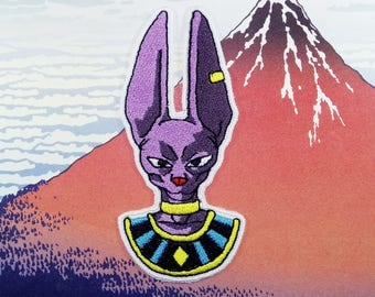 Dragon Ball Z: Battle of the Gods - Lord Beerus Portrait Iron on Patch