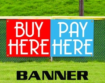 Pay here sign etsy for Boykin motors buy here pay here