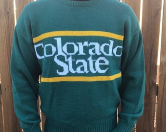 Colorado State Vintage Cliff Engle Sweater