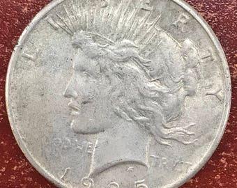 1925 peace silver dollar -M214-