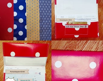 door checkbook and CB in oilcloth, practical and original, not messy, solid.