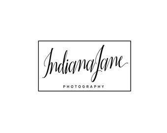 Signature Logo / Calligraphy Logo / Square Logo / Signature Photography Logo / Modern Logo Design / Cursive Blog Header / Script Logo