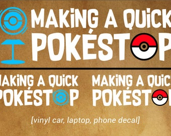 Making a Quick Pokestop! - POKEMON GO car decal - Pokemon fans!