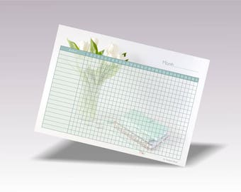 Daily Habit Planner, Printable Habit Tracker Pdf, Printable Habit Plan A4, Daily Habit Chart, Monthly Habits Planner