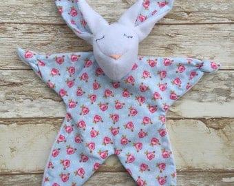 Doudou Rabbit pattern flowers roses