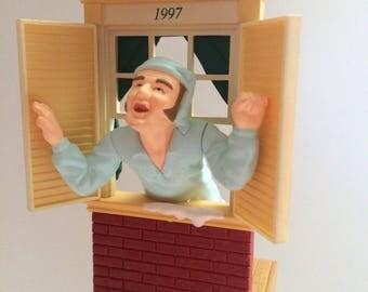 1997 Hallmark 3D Keepsake Ornament The Night Before Christmas Away to the Window