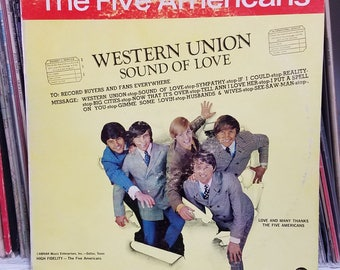 The Five Americans Western Union Sound Of Love Abnak Records ABLP1967 Rock LP