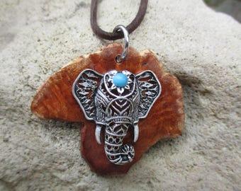 Silver elephant head pendant