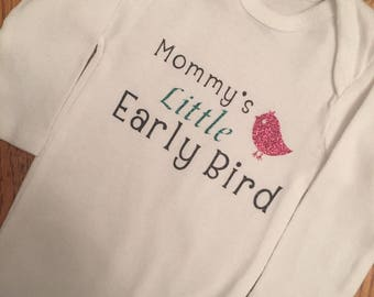 Early bird/NICU onesie/Preemie onesie/custom onesie