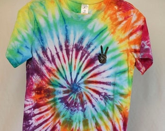 25% OFF ENTIRE SHOP Size 12 - Ready To Ship - Unisex - Children - Kids - Tie Dyed T-shirt - Tee's - 100 Percent Cotton - Free Shipping withi
