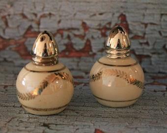 Vintage Irice Salt & Pepper Shakers